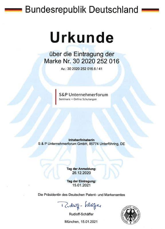 S & P Unternehmerforum GmbH